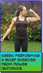 Karen Performing A Bicep Exercise