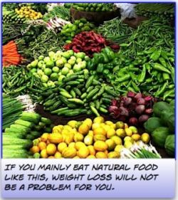 The key to natural weight loss is natural food