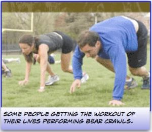 strength and conditioning workouts - The Bear Crawl